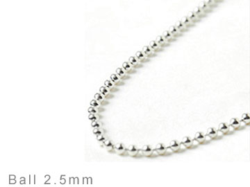 BALL CHAIN 2.5mm  [U4002]