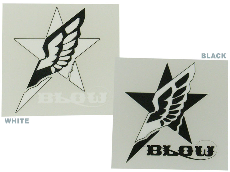 BLOW STAR WING STICKER [blow-starwing-st]